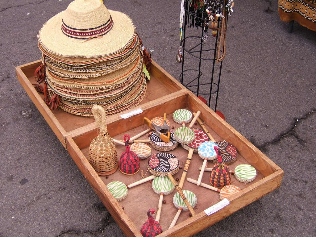 Pan African Village crafts on display
