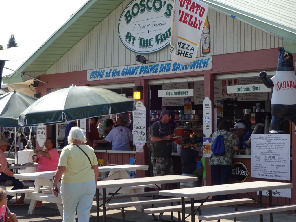 Some stands were demolished and relegated to tents, but Restaurant Row remains, with anchors such as Bosco's attracting loyal customers.