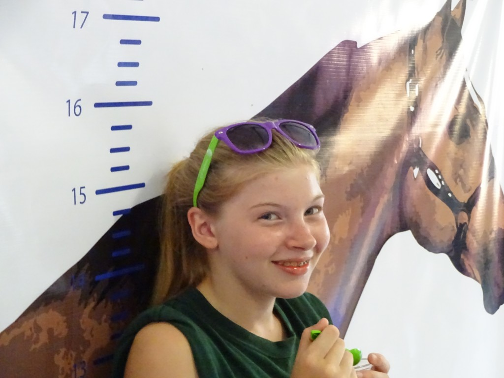 This young lady poses in the Horses of the World tent. State Fair Hound would love to see that exhibit get a permanent home, perhaps in the planned equine area.