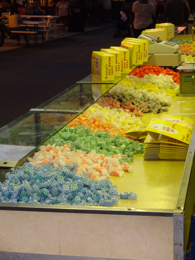 It's not the Fair without the clickety-clack of the taffy-making machine and those sight of those brightly-wrapped nuggets.