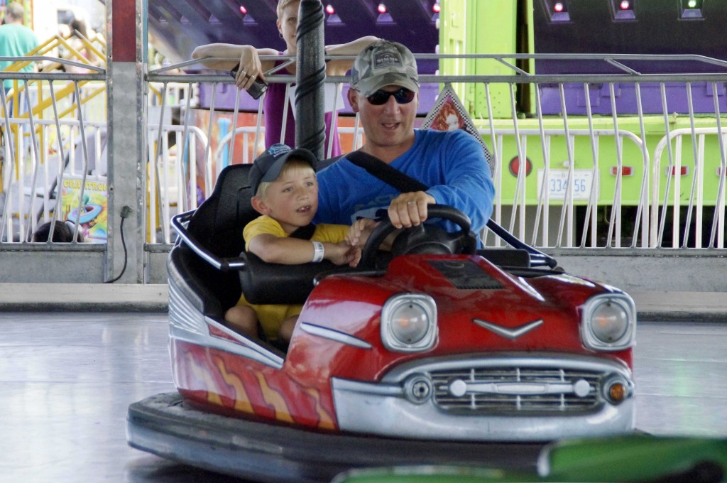 I-690 wasn't the only road that tested drivers at the Fair--Wade's bumper cars were just as tough.