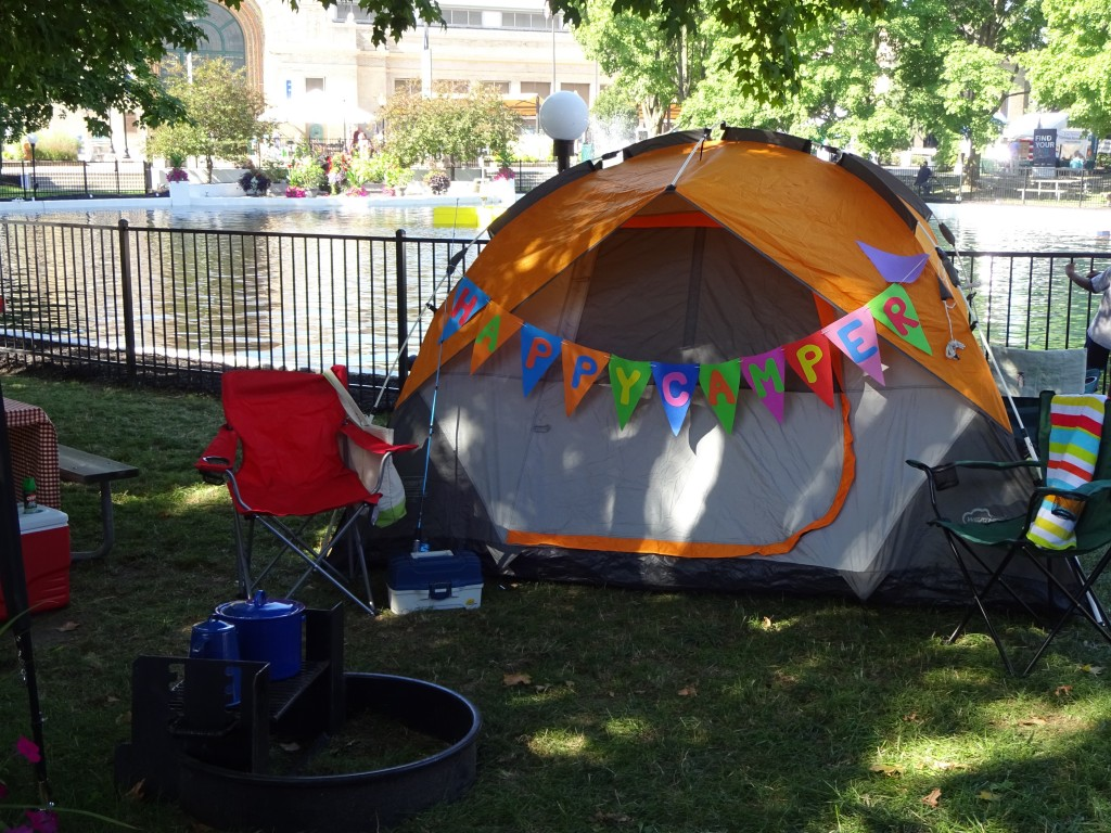 This State Parks display exhibits the latest in campgrounds shelters.