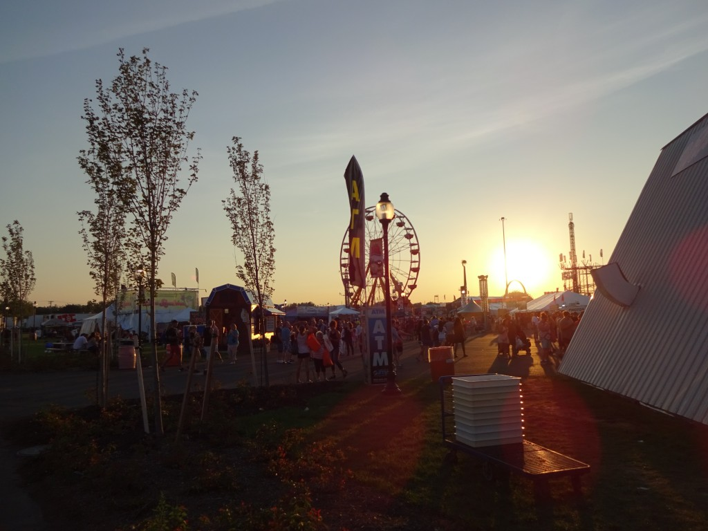 The sun setting over the midway creates some gorgeous sights.