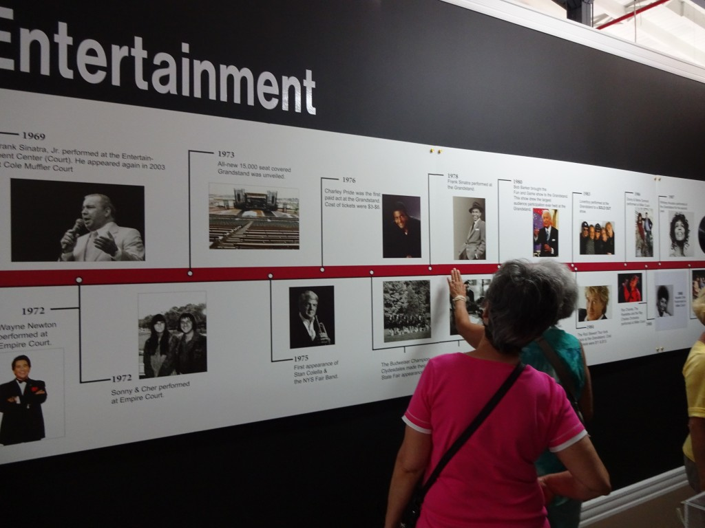 The photo display inside the State Fair History exhibit evokes memories from 40 years of concerts on the grounds.