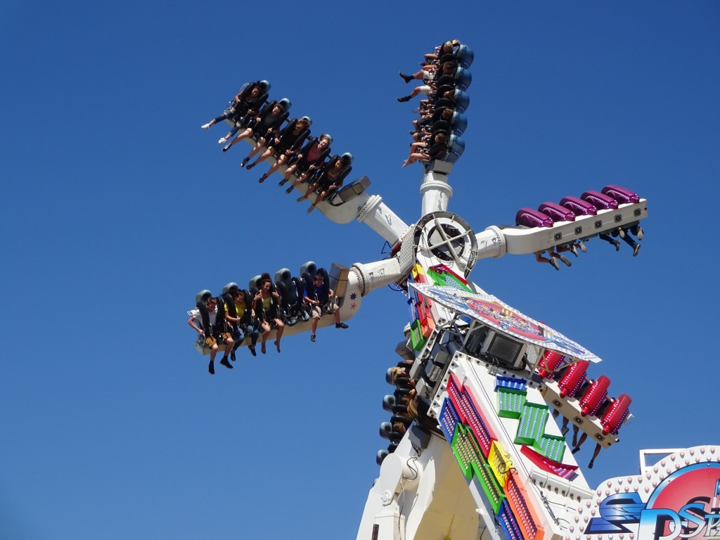 Don't forget your pre-paid Wade Shows ride card. This year features the first appearance of their Sky Liner ride.